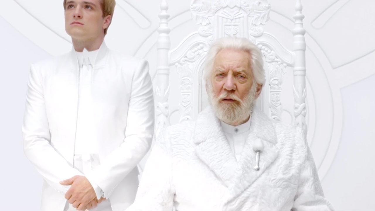 Hunger Games –Peeta (Josh Hutcherson) og president Snow (Donald Sutherland)