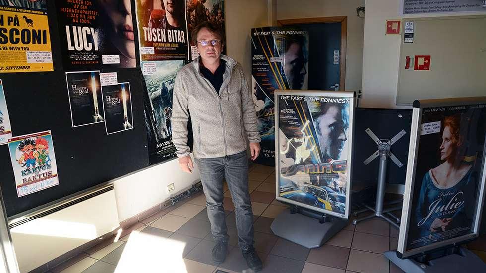 Tor Wibe, kinosjef i Levanger. (Foto: Andreas Ryen Eidem/Verdalingen)