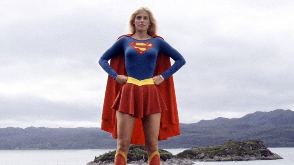 Helen Slater som Supergirl i 1984.
