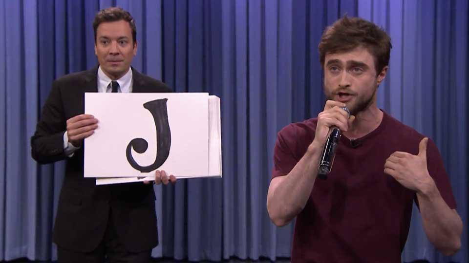 Daniel Radcliffe på Jimmy Fallon Show.