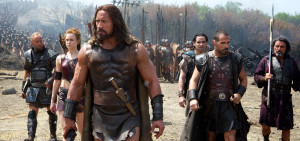 Left to right: Aksel Hennie plays Tydeus, Ingrid Bolsø Berdal plays Atalanta, Dwayne Johnson plays Hercules, Reece Ritchie plays Iolaus, Rufus Sewell plays Autolycus, and Ian McShane plays Amphiaraus in HERCULES, from Paramount Pictures and Metro-Goldwyn-Mayer Pictures. H-00118C