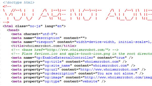 Skjermdump av kildekode.