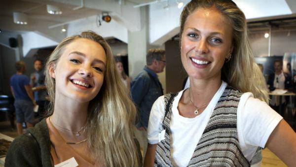 Mathilde Storm og Ida Ursin Holm slik de EGENTLIG ser ut. Foto: Pål Nordseth