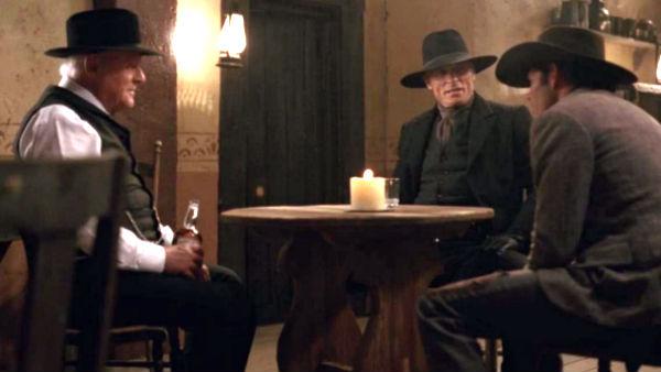 Fire skuespillere i verdensklasse: Anthony Hopkins, Ed Harris, James Marsden, og ikke minst Daniel Day-Lewis – ugjenkjennelig som alltid – i rollen som stearinlys.
