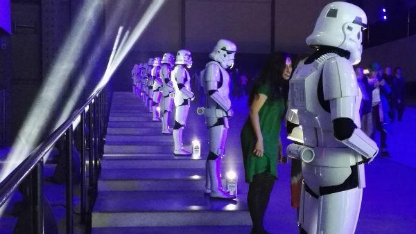 Backstage på «Star Wars»-premiere i London. (Foto: Privat)
