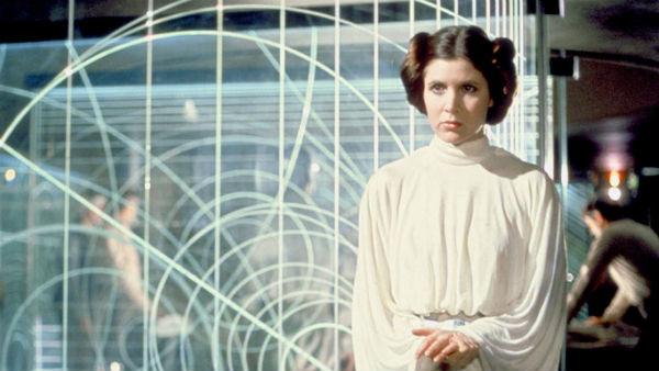 Leia i Carrie Fishers skikkelse i «A New Hope» (1977).