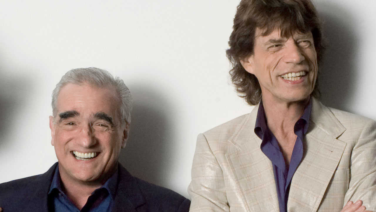Martin Scorsese og Mick Jagger under innspillingen av «Shine a Light». (Foto: Nordisk Film Distribusjon AS)