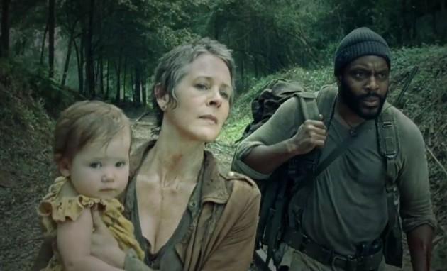 Carol, Tyreese og Judith i «The Walking Dead». (Foto: AMC)