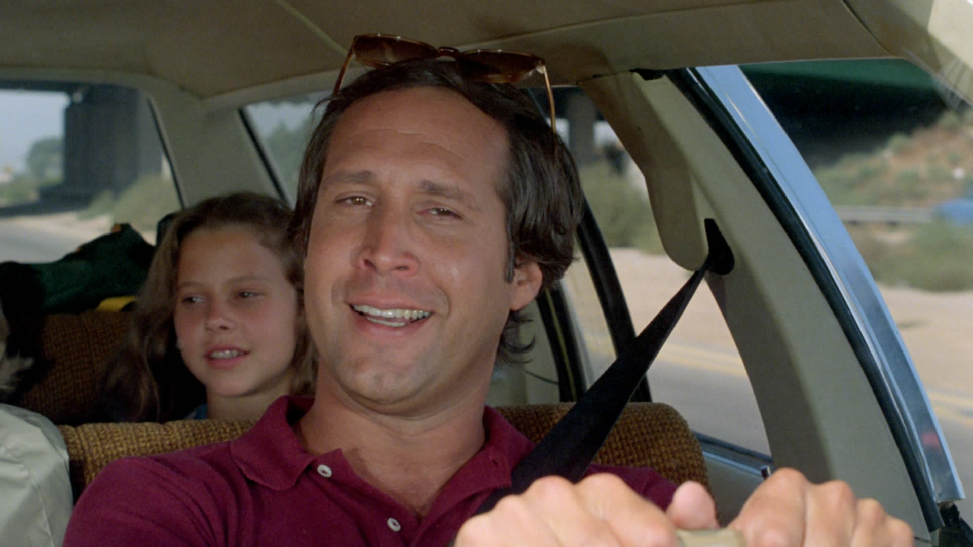 Chevy Chase i «Hjelp, vi skal på ferie» / «National Lampoons Vacation».