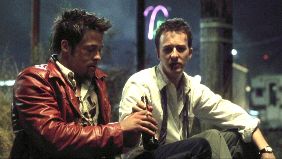 Edward Norton og Brad Pitt i «Fight Club».