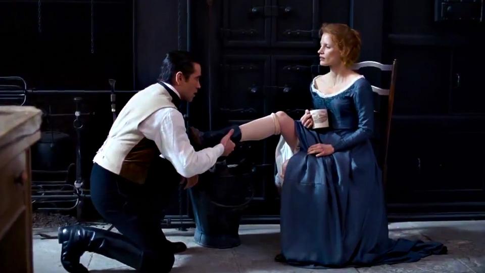 Miss Julie med Colin Farrell og Jessica Chastain.