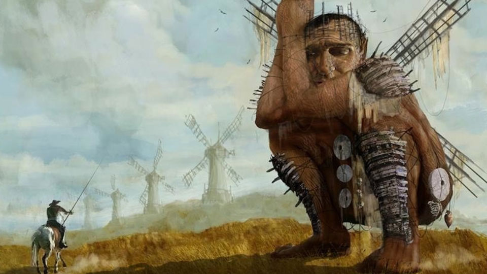 Concept art for Terry Gilliams «Don Quijote».