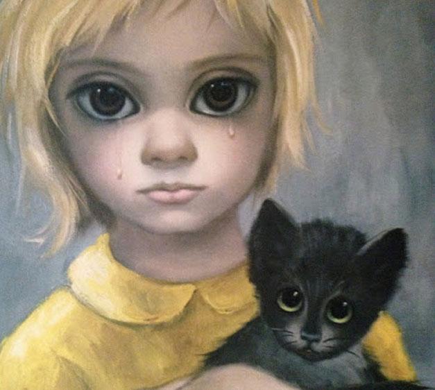Et typisk eksempel på Margaret Keans «Big Eyes»-bilder.
