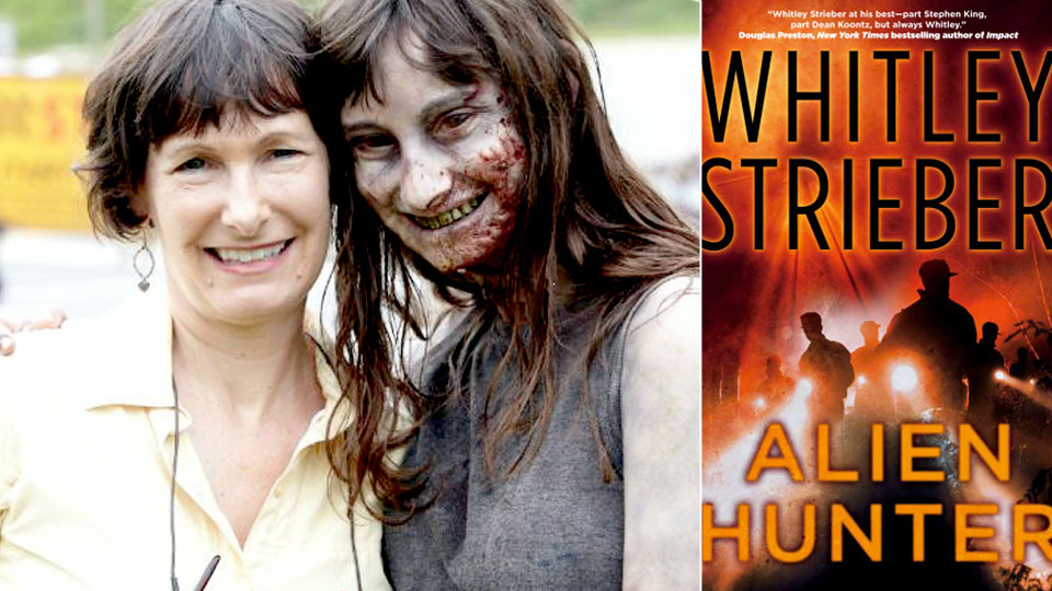 Gale Ann Hurd og en zombie – og boken «Alien Hunter».