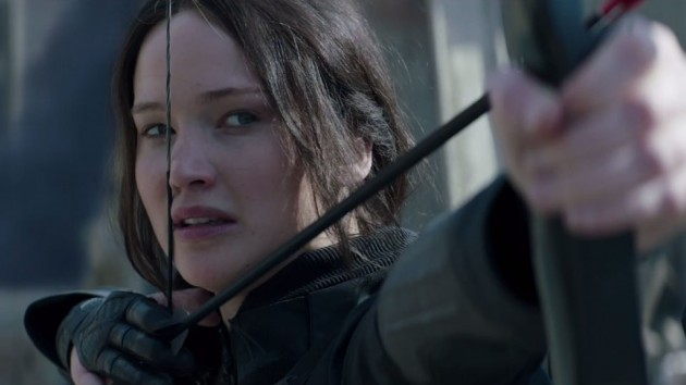 Jennifer Lawrence som Katniss Everdeen i «The Hunger Games: Mockingjay - part 1».