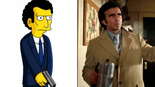 Louie i «The Simpson» og Frank Sivaro som Frankie Carbone.
