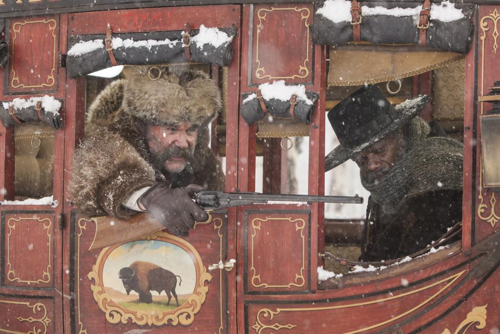 "Kurt Russell og Samuel L. Jackson i ""The Hatefui Eight"". Foto: Norsk Filmdistribusjon"