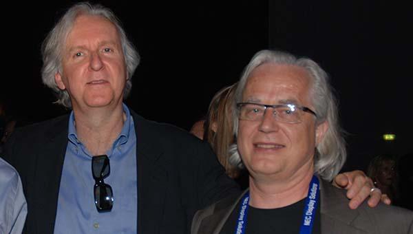 James Cameron og Rolv Gjestland. (Foto: Sigurd Moe Hetland)