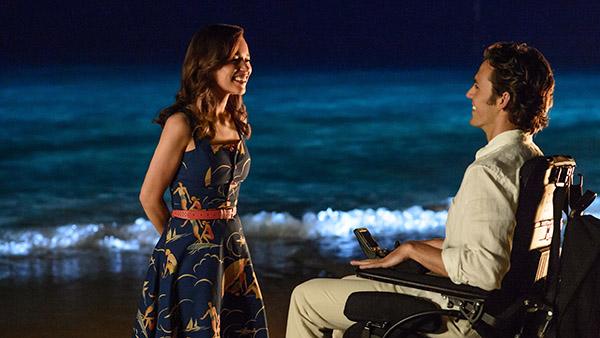 Emilia Clarke og Sam Claflin i «Et helt, halvt år». (Foto: SF Norge AS)
